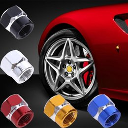 tire tyre valve cap stem wheel Canada - 4 Pcs Universal Aluminum Auto Bicycle Car Tire Valve Caps Tyre Wheel Hexagonal Ventile Air Stems Cover Airtight Rims Accessories