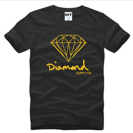 diamond supply tee shirts NZ - Mens Cotton New T Summer Shirts Fashion Short-sleeve Printed Diamond Supply Co Male Tops Tees Skate Brand Hip Hop Sport Clothes 113SJA