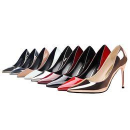 $enCountryForm.capitalKeyWord UK - Women Stiletto High Heels Dress Shoes Party Wedding Evening Pumps Office Lady Leather Stilettos Sexy Female Classic Pumps