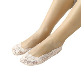$enCountryForm.capitalKeyWord UK - New Arrival 1 Pair Women Girls Summer Lace Non-slip Invisible Short Sock No Show Low Cut Socks
