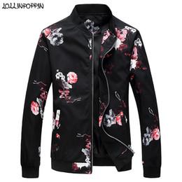 $enCountryForm.capitalKeyWord Australia - Men Floral Jacket Stand Collar Baseball Jacket Flowers & Bird Printed 2019 Spring & Autumn Mens Zip Up Coat Outerwear