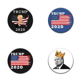 skull patches wholesale UK - 10 1 Pcs Skeleton Round Trump Badge Embroidery Patches For Clothing Iron Skull Patch For Clothes Applique Sewing Accessories On Cloth Iro #98
