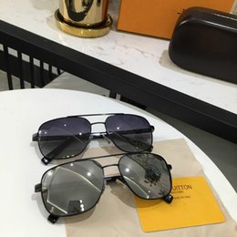 Box Brand Glasses NZ - Brand louis Silver with Black Lenses Sunglasses Pilot Sunglasses Designer Brand Mens Womens Sun Glasses Eyewear Metal Glass Lenses with box