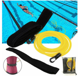 swimming belts NZ - 3M 4M Swimming Bungee Exerciser Leash Swim Training Resistance Belt For Adult Kids Safety Swimming Pool Tools Latex Tether