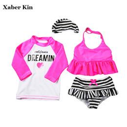 $enCountryForm.capitalKeyWord Australia - 4pcs Two-piece Girls Tankini Set Plavky Children Swimsuits Girls Bathing Suits 2018 Bikini Kids Swimwear Sports Suits G15-k61 Y19072601