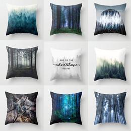 Discount scandinavian lighting - Geometric Pillow Cover Blue Nordic Cushion Home Decoration Pillowcase Scandinavian Sofa Cushions 45*45Cm Pillow Case