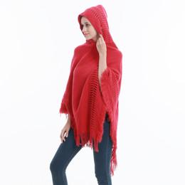 c4a37b4f0 Spring Autumn Poncho Style Turtleneck Knit Hooded Sweater Women Oversized  Pullover Women Knitwear Jumper Fashion Cape Jacket