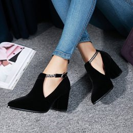Belt Buckles for shoes online shopping - Belt Buckle Ankle Boots For Woman New Arrival Hollow out Square heel Platform Boots woman shoes High Quality short boot Drop