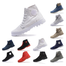 Discount men cloth sneakers 2019 PALLADIUM New arrived Ankle Boots shoes for men women Triple black white Grey blue Denim sneakers fashion canvas ca