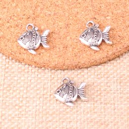 goldfish charms Australia - 75pcs Antique Silver Plated double sided fish goldfish Charms Pendants fit Making Bracelet Necklace Jewelry Findings Jewelry Diy Craft 14*15