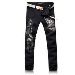 $enCountryForm.capitalKeyWord UK - ORINERY Size 28-38 Hot Sale Leopard Printed Skinny Jeans Men Fashion Black Denim Pants High Quality Mens Clothes Long Trousers