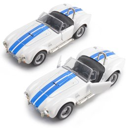 gear sales Australia - Hot Sales 1: 30 Limited Edition Shelby Cobra Alloy Car Model Light Included Light Music