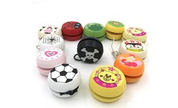 metal yoyo for kids NZ - New Attractive Cartoon Ladybug Printed Wooden Yoyo Yo Yo Professional Fun Funny Gadgets Interesting Toys For Children Kids Gift