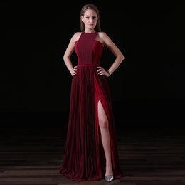 mother bride cocktail length dress NZ - MA019 Jewel Neck Burgundy Prom Dresses Color Matched Floor Length Chiffon Mother of The Bride Dresses vestido de festa Evening Cocktail Dres
