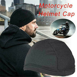 $enCountryForm.capitalKeyWord Australia - 1 Pcs Helmet Liner Skull Quick Dry Cooling Wicking Sports Cycling Beanie Cap for Women Men