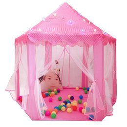 tent castle NZ - FBIL-Play Fairy House Indoor And Outdoor Kids Play Tent Hexagon Princess Castle Playhouse For Girls Funny Portable Foldable tent