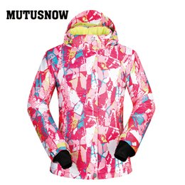 Polyester Jacket Windproof Australia - MUTUSNOW Ski Jacket Women Winter Hot Sale Snow Underwear Outdoor Single Ski Windproof Thermal Coat Warm Brands Snowboarding Women Jacket