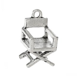 chairs charm Australia - Jewelry Findings Charm Pendants Chair Antique Silver 18mm x 10mm,50PCs