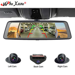 """Dvr Channel Cameras Australia - WHEXUNE 10"""" Touch ADAS Android 5.1 Full 1080P Car Dash Cam 4G Video Recorder Rearview mirror with DVR Camera 8 Core 4 Channel"""