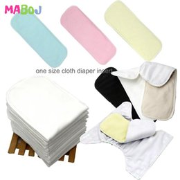 diapers covers cotton UK - MABOJ 10pcs Baby Ecological Diapers Washable Insert Pocket Cloth Diaper Baby Nappy Cover Microfiber Bamboo Charcoal Cotton Liner