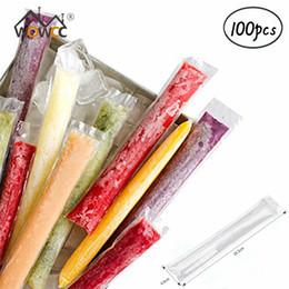 $enCountryForm.capitalKeyWord Australia - 100pcs Pack Plastic FDA Popsicles Molds Freezer Bags Ice Cream Pop Making Mould DIY Yogurt Summer Drinks Kids Hand Crafts
