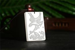$enCountryForm.capitalKeyWord Australia - New Chinese Hand Carved Natural White Jade Eagle Amulet Pendant Necklace Wholesale