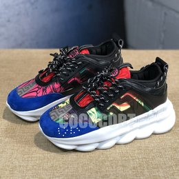 $enCountryForm.capitalKeyWord Australia - Cheap Luxury Designer Shoes Discount Price New Chain Reaction Multi Color Rubber Suede Fashion Trainers Sneakers Casual shoes 5-11 B19