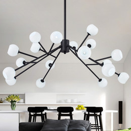 modo light Australia - Modern magic beans DNA Lustres LED pendant light industrial Modo Jason miller lamps Nordic Art Deco glass ball chandelier light