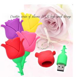$enCountryForm.capitalKeyWord Australia - Colorful Rose Flower Pendrive 4gb 8g 16g 32g 64gb U Disk Flash Pen Drive Memory Usb Thumb Stick Best Gift