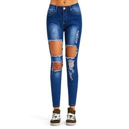 Women Blue Jeans Pants Australia - Hole Ripped Jeans Women Pants Cool Denim Sheat Vintage Straight Jeans Girl High Waist Casual Pants Female Slim Blue