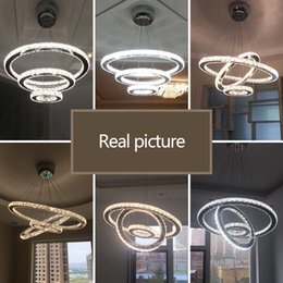 Cords For Pendants NZ - JESS Crystal Modern LED Pendant Lights For Dining Living room Remote Control Stainless steel pendant lamp Cord Pendant hanglamp110v`260v