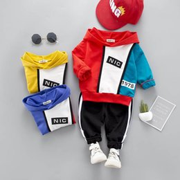 Wholesale New baby tracksuit kids tracksuit Boys Clothing Sets hoodie trousers Baby Suit casual Girls Outfits designer baby clothes sport sets A4383