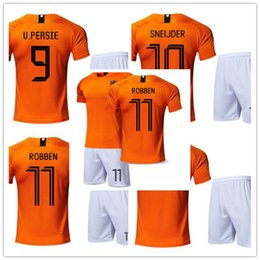 18-19 the Netherlands national team home number 11 arjen robben jerseys  tailored football suit men adult children soccer jersey c8be35681