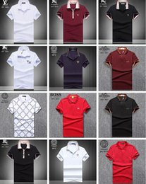 Discount polo tops for man - Men's Brand Polo Shirts For Men Letter Print Casual Polos Medusa Short Sleeve Polo Shirt Sport Causal Business Hip