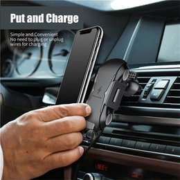 $enCountryForm.capitalKeyWord Australia - Qi Wireless Car Charger 10W Fast Charging Stand Car Mount Phone Holder Air Ventgrip For iphone XR XS MAX Samsung s10 Plus E Qi-enabled