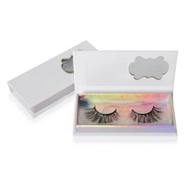 White False Eyelashes Australia - Wholesale false eyelashes 3d Mink eyelashes packing box NO Logo Cosmetics Empty Eyelashes package box White cardboard Lashes Packaging Box
