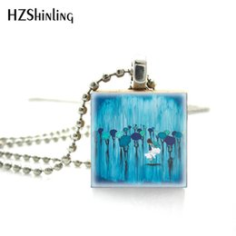 umbrella paintings Australia - New Fashion Beautiful Dancing with Umbrellas Painting Glass Photos Scrabble Game Tile Ball Chain Necklace Accessorie
