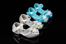 $enCountryForm.capitalKeyWord Australia - Lovely Blue Silver Flower Girls' Shoes Kids' Shoes Girl's Wedding Shoes Kids' Accessories SIZE 26-37 S321028