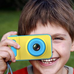 Wholesale Small Cameras NZ - Children's Digital Camera Mini Camera Small SLR Sports Camera Toy Cartoon Game Photo Birthday Gift Pink Blue For Children