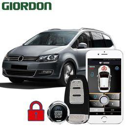 $enCountryForm.capitalKeyWord Australia - GIORDON SHARAN 2013 car accessories Keyless Entry Comfort System PKE Phone APP Remote Start Car Engine Alarm Push 913