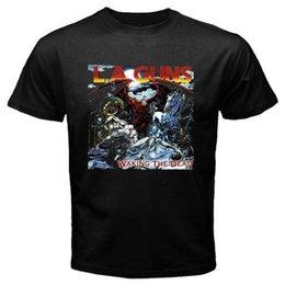 Yeni L. A GUNS Ölü Metal Rock Band Uyanma erkek Siyah T-Shirt Beden S 3XL indirimde