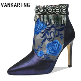 VANKARING brand genuine leather summer ankle boots sexy martin boots woman  leisure fashion runway show women shoes riding dba629c18