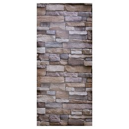 Hallway Wall Stickers UK - Modern Faux Brick Textured Adhesive Wallpaper for Living Room Bedroom Hallway TV Background Home Decor 1000 x 45cm