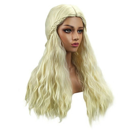 lolita wigs blonde Australia - Free Shipping Women Fashion Lady Long Curly Wavy Hair Party Cosplay Synthetic Full Wig Blonde