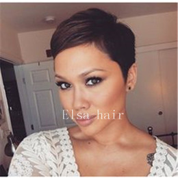 $enCountryForm.capitalKeyWord Australia - Short Pixie Cut Hair Short Black Hairstyles human hair Wigs For Women Peruvian Hairpieces Women Fashion Wigs