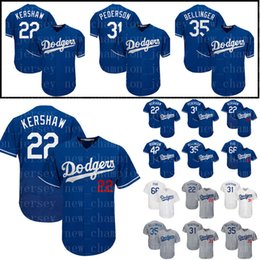 Men s Los Angeles jersey Dodgers 22 Clayton Kershaw 35 Cody Bellinger 10  Justin Turner 66 Yasiel Puig 31 Mike Piazza jerseys 53f69ea38