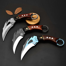 $enCountryForm.capitalKeyWord NZ - The One Phoenix Karambit Neck Knives D2 Steel Machete Claw Knife Fixed Blade Knives Outdoor Camping Hiking Fishing Survival Knife