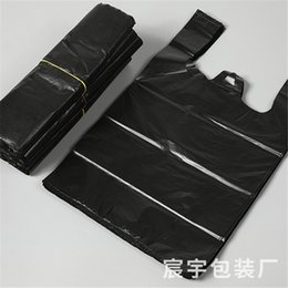 flat red car Australia - Home life thickened garbage bags vest garbage bags large plastic black garbage bags