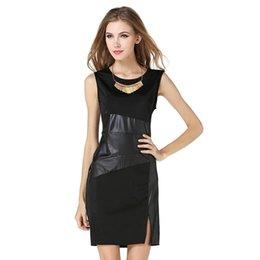 Sexy Comfortable Black Dress NZ - 2017 New Summer Women Dress Solid Sleeveless Pencil Empire Sexy Party Plus Slim Comfortable Black Dresses For Women