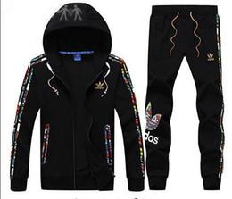 Short Sleeve Suit jacketS men online shopping - New Mens Tracksuits Men Sweat Suits Autumn Brand Mens Tracksuits Jogger Suits Jacket Pants Sets Sporting Suit Plus